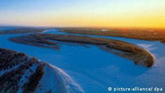 Arial view of Siberian landscape