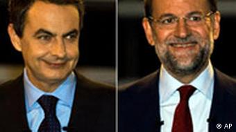 Zapatero (left) and Rajoy (right)
