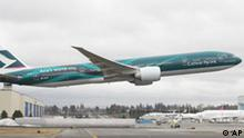 Boeing 777-300 ER Co Passagier-Jet in Everett, Washington