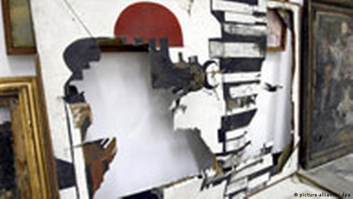 Pintura iraquí destruida por el Ejército de EE. UU.