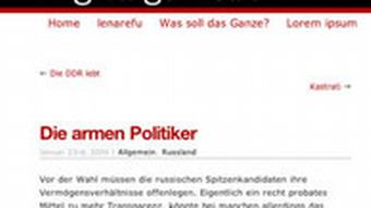 Screenshot Blog Digitalgemüse http://blog.ephilias.de/2008/01/23/die-armen-politiker/