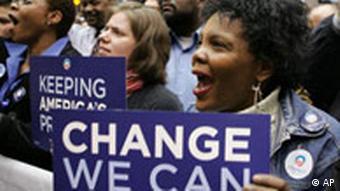 Supporters for Democratic presidential hopeful Sen. Barack Obama, D-Ill., cheer