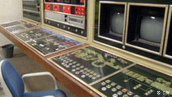 A control room in the bunker museum