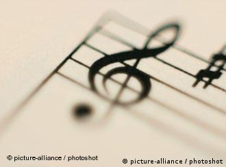 A treble clef