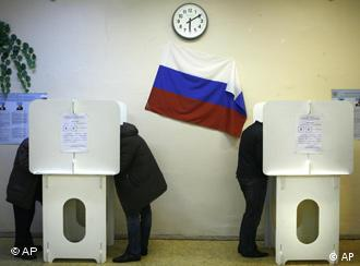 Two Russian voting booths
