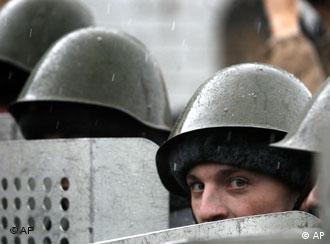 Подразделение ОМОНа в Москве