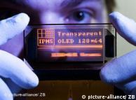 Diodos lumínicos orgánicos (OLED), creados por el Instituto Fraunhofer de Dresde.