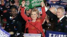 Hillary Rodham Clinton ist die Gewinnerin in Columbus, Ohio