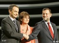 Los líderes del los grandes partidos españoles, PP y PSOE.