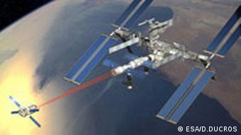 EU Raumfahrt ESA ATV Space-Traveller Jules Verne nähert sich der ISS