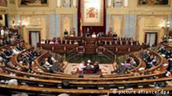 Parlament in Madrid Spanien