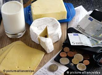 Деньги и молочные продукты