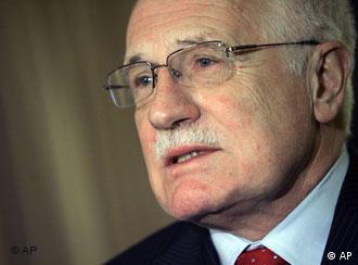Президент Чешской Республики Вацлав Клаус
