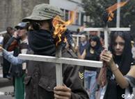 Marcha en contra de la violencia, en Bogotá.