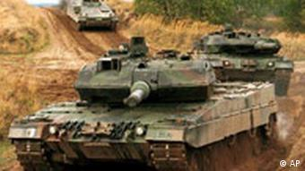 Leopard 2 A5 tanks of the German Army