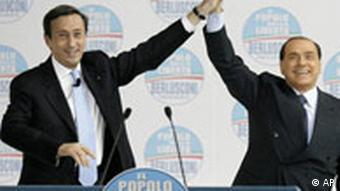 Gianfranco Fini and Silvio Berlusconi