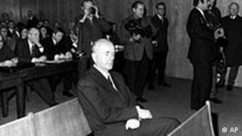Albert Speer im Gerichtssaal
