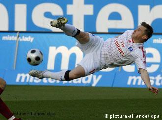 Ivica Olić u utakmici protiv Nürnberga (9.3.2008.)