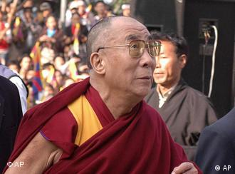 The Dalai Lama at a Temple in Dharmsala, India to mark the 49th anniversary of the Tibetan uprising