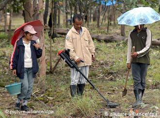 Suche nach Landminen