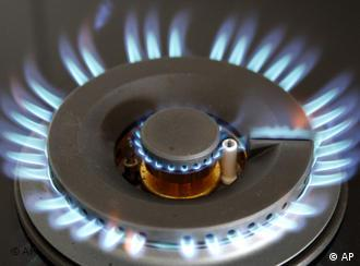 Flame from a gas stove