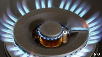 A stove's gas burner
