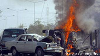 Picture of a suicide bombing in Kabul