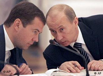 Дмитрий Медведев и Владимир Путин (фото из архива)
