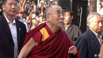 The Dalai Lama in Dharamsala in India