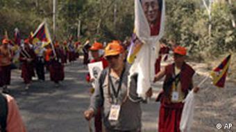 Protestmarsch Tibet