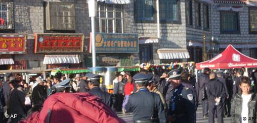 China Tibet Demonstration in Lhasa Polizei