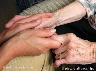 Young hands holding old hands