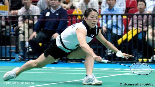 Huaiwen Xu bei der Badminton Weltmeisterschaft in Tokio Japan 2006