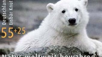 Briefmarke mit Eisbaer Knut