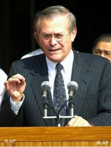 Donald Rumsfeld in Indien