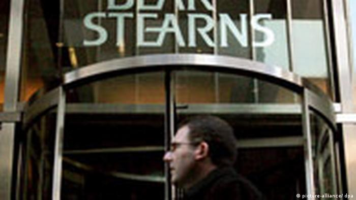 Logo der US-Investmentbank Bear Stearns in in New York (picture-alliance/ dpa)