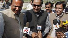 Pakistan neues Parlament bei seiner ersten Tagung in Islamabad