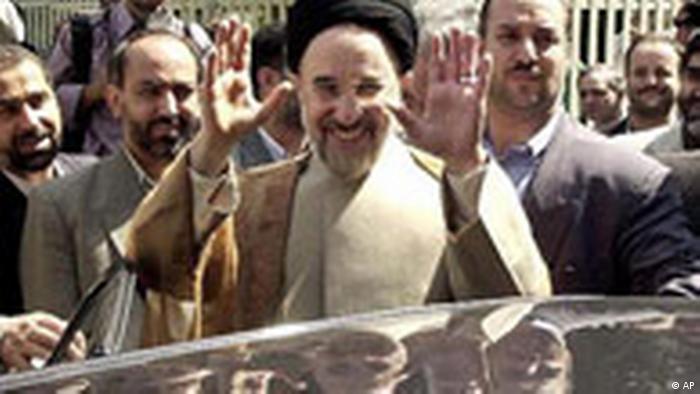Der iranische Präsident Mohammad Chatami
