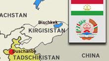 Tadschikistan Karte Querformat