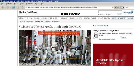 Die New York Times nutzt Kadflys Bild, Quelle: New York Times