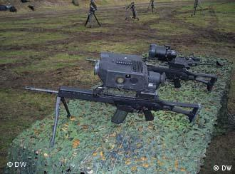 Machine gun with state-of-the art night vision technology