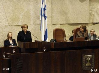 Kancelarka Merkel govori pred Knesetom