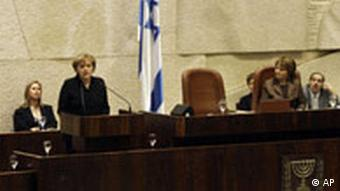 Angela Merkel vor Knesset