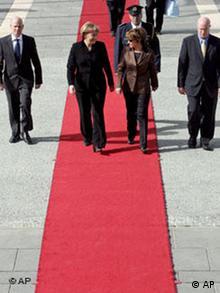 Angela Merkel auf dem Weg zur Knessetrede