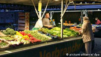 A food market in Germany