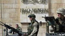 US-Army-Soldaten sichern das irakische Museum in Bagdad, Foto von 2003