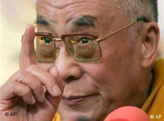 Tibetan spiritual leader the Dalai Lama gestures during a press meeting in Dharamsala, India, in March