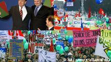 Montage Fischer Schröder Demo gegen Irakkrieg