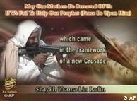 Osama bin Laden: con ametralladora contra caricaturas.