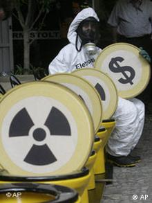 Protesters against nuclear energy